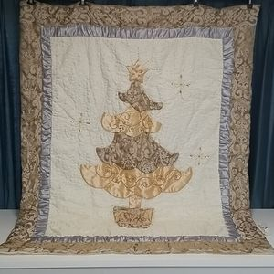 Other - Embellished Christmas throw blanket quilt